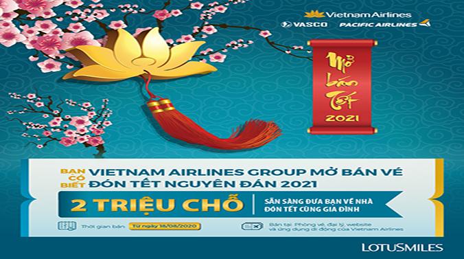 Vietnam Airlines Group Mở Bán Vé Tết Sớm